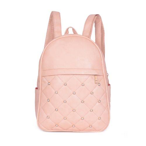 Bagkok pink leatherette regular backpack