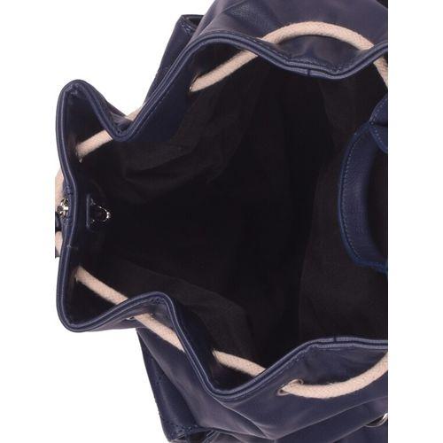 Bagkok blue leatherette (pu) fashion backpack