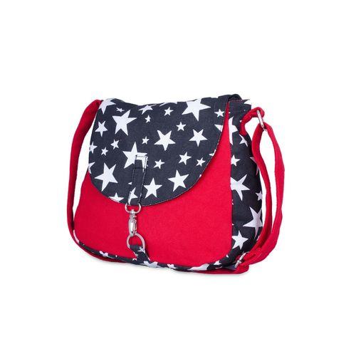 Vivinkaa red canvas printed slingbag
