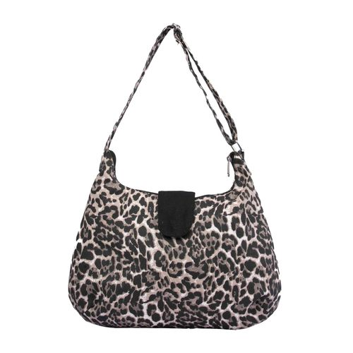 Vivinkaa black canvas printed sling bag