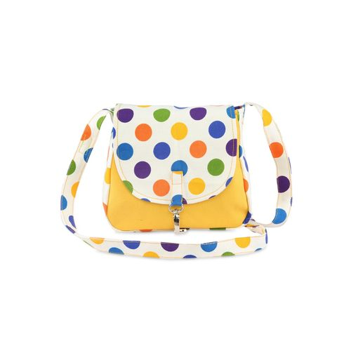Vivinkaa yellow printed canvas sling bags combo
