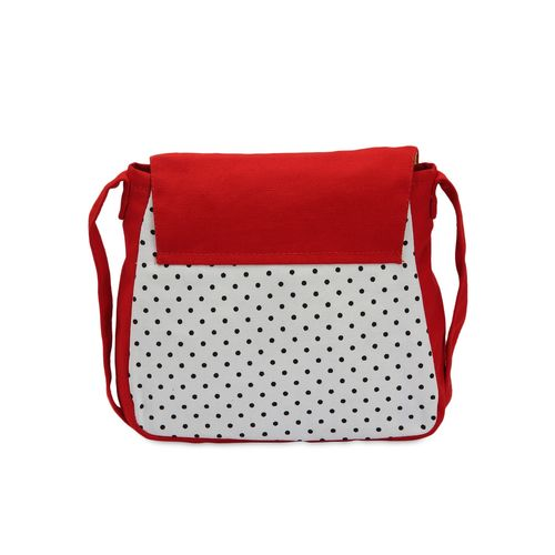Vivinkaa multi polka print cotton sling bag