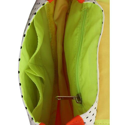 Vivinkaa orange and white polka print cotton slingbag