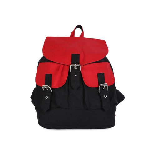 Vivinkaa black cotton canvas mini backpack