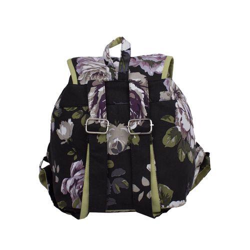 Vivinkaa black canvas printed backpack