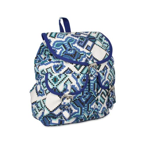Vivinkaa blue canvas printed backpack