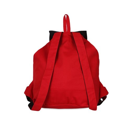 Vivinkaa red cotton canvas backpack