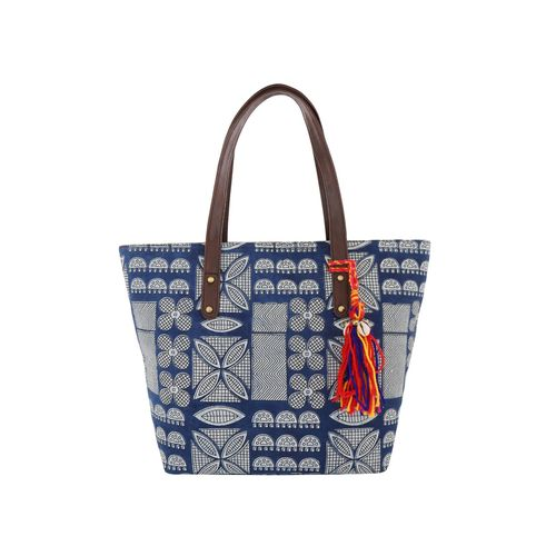 Vivinkaa blue cotton regular handbag