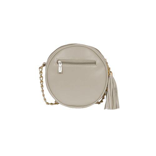 Kleio cream leatherette sling bag