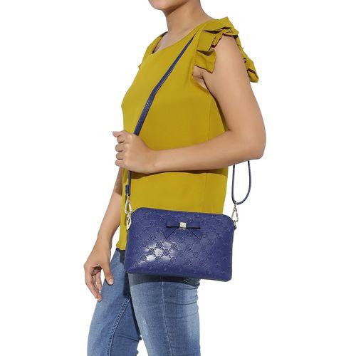 Kleio blue leatherette regular clutch