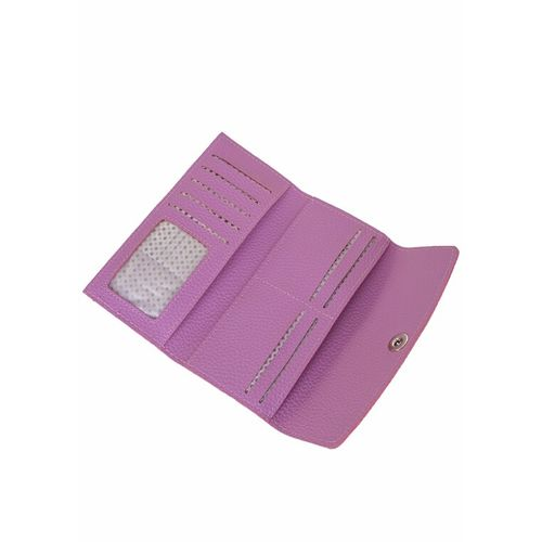 Kleio purple leatherette clutch