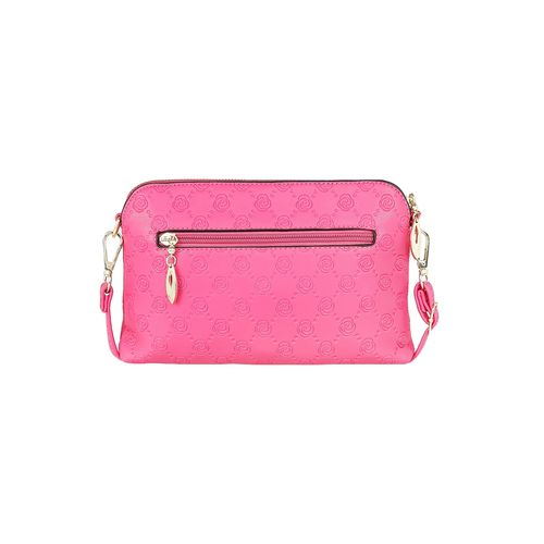 Kleio pink leatherette regular clutch