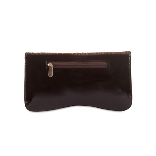 Kleio brown faux leather sequin worked sling bag