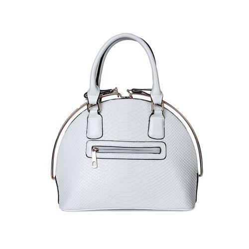 Kleio white leatherette handbag