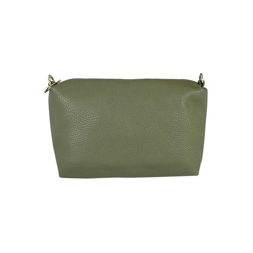 Kleio green leatherette handbag