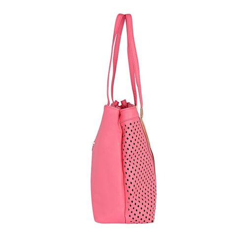 Kleio pink leatherette handbag