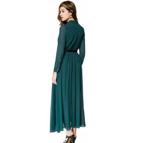 WC-1504 Westchic HABIBA COLLAR with BELT Long Dress
