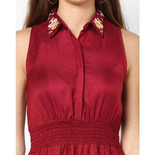 AJIO Shirt Dress with Elasticated Waist