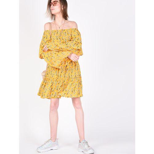 Atraenta off shoulder tie front floral fit & flare dress