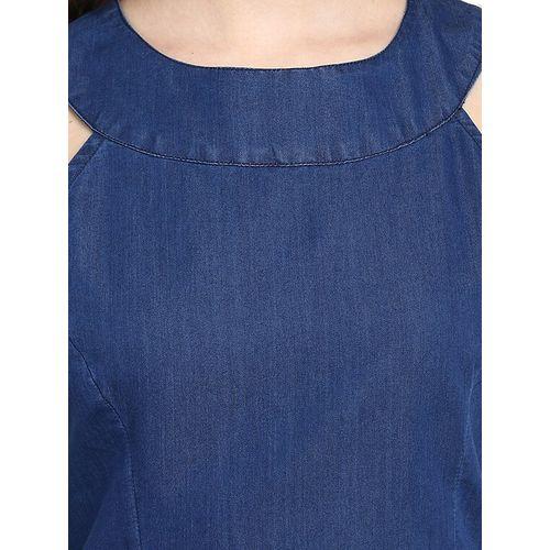 StyleStone blue denim a-line dress