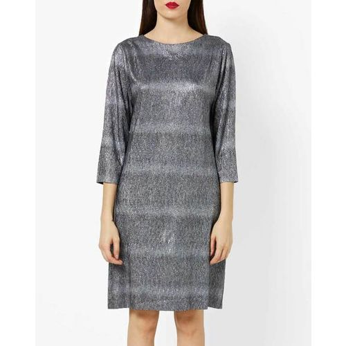 AJIO Shimmery Textured Shift Dress
