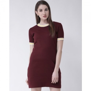 CLUB YORK Ribbed Sheath Dress