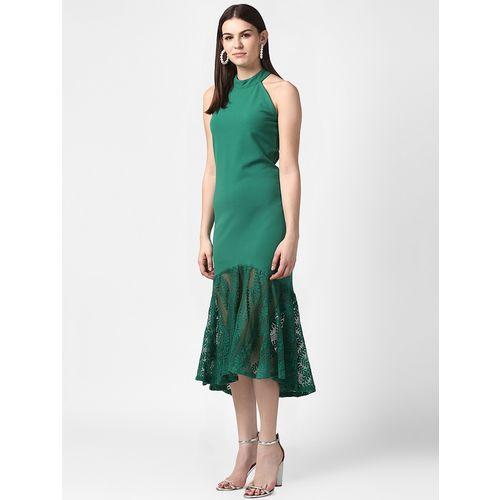 StyleStone halter neck laced hem a-line dress
