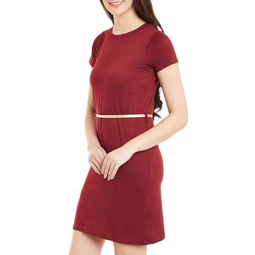 Miss Chase knitted belted shift dress