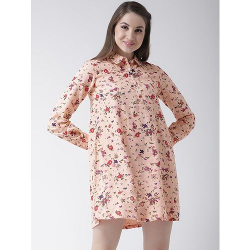 MsFQ gathered back floral a-line dress