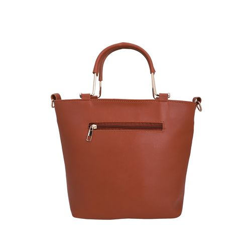 Lapis O Lupo tan leatherette (pu) combo handbag