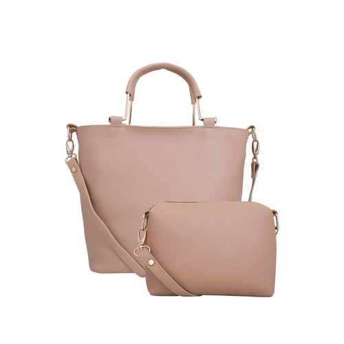 Lapis O Lupo beige leatherette (pu) combo handbag