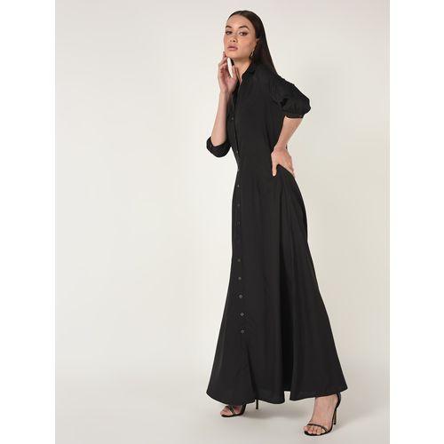 A K Fashion mandarin neck button up maxi dress