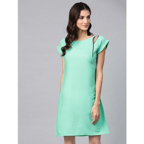 Ives cut out detail a-line dress