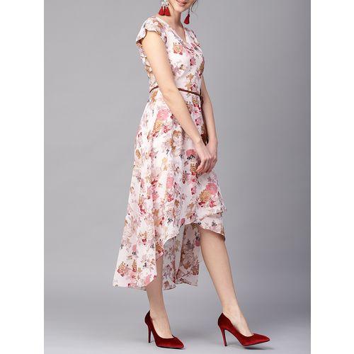 ATHENA floral asymmetric wrap dress