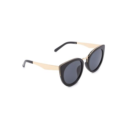 globus full rim cat eye black sunglasses