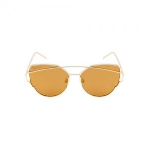 ted smith women cat-eye gold polarized sunglasses