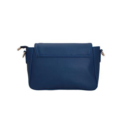 Lapis O Lupo blue leatherette (pu) messenger sling bag