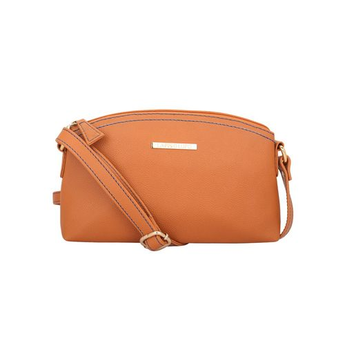 Lapis O Lupo tan leatherette regular sling bag
