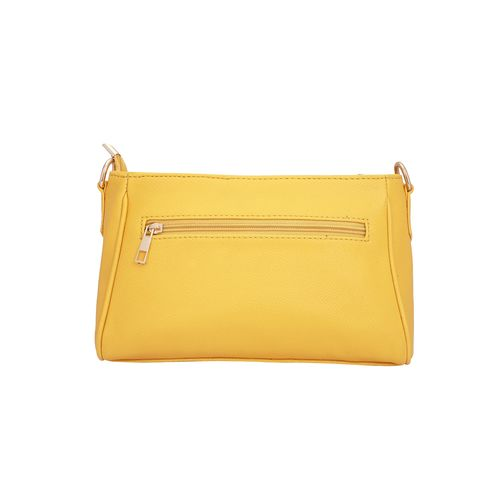 Lapis O Lupo yellow leatherette (pu) sling bag
