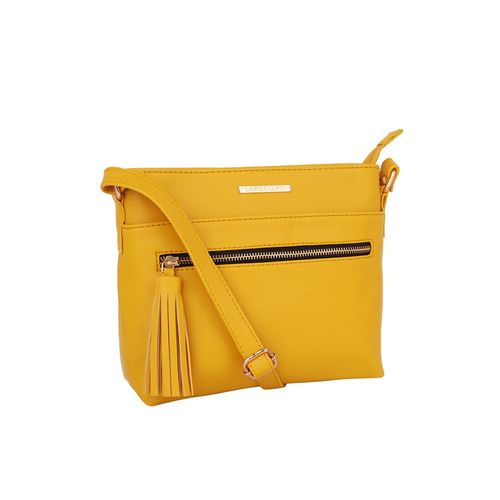 Lapis O Lupo yellow leatherette (pu) messenger sling bag