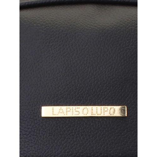 Lapis O Lupo black leatherette backpack