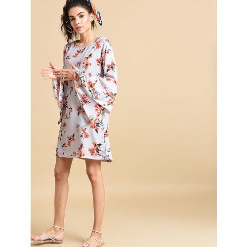 Inuka bell sleeved floral shift dress