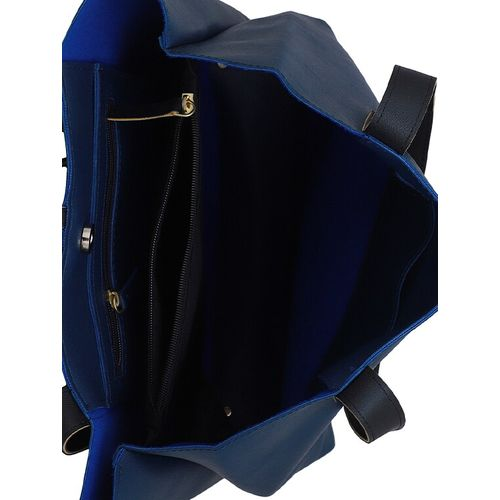 Lapis O Lupo blue leatherette (pu) regular tote