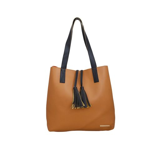 Lapis O Lupo brown leatherette (pu) regular tote