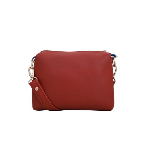 Lapis O Lupo red leatherette (pu) combo tote