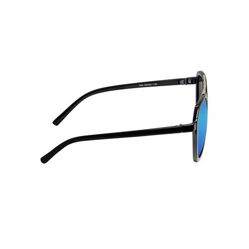 cardon blue aviator mirrored & uv protected sunglass