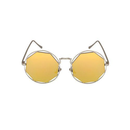 notjustiaras round octagonal unisex sun glasses gold uv protected lenses - (gold octagonopus)