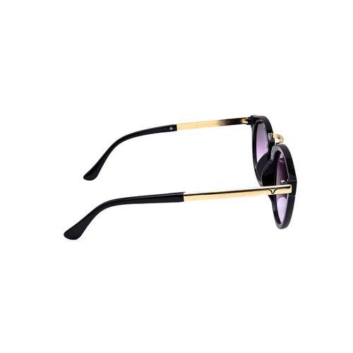 stacle retro metal bridge round sunglasses (black) (std15123)