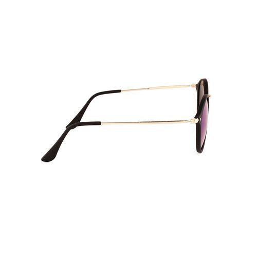 royal son uv protected round sunglasses for women (what4255|49|green mirrored lens)