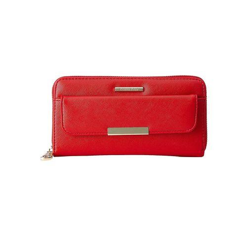 Diana Korr red leatherette clutch